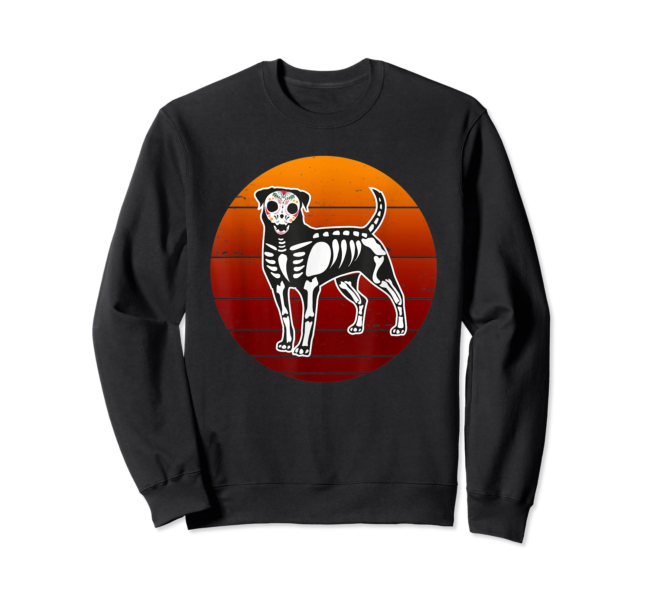 Rottweiler Skeleton Halloween T-Shirt-Sweatshirt-Black