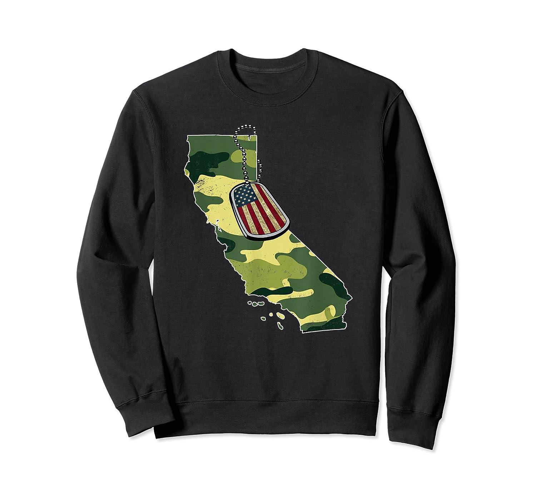 California Camouflage Veteran Pride T-shirt Crewneck Sweater