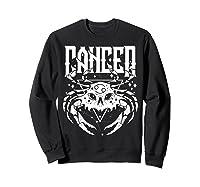 Cancer Hearth Kitchen Witch Shirt Skull Constellation Sweatshirt Black