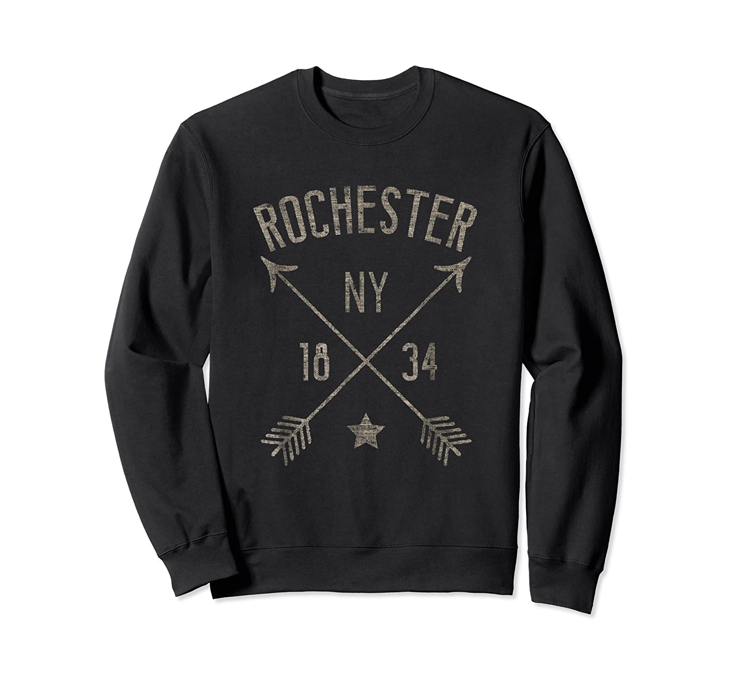 Rochester Ny T Shirt Cool Vintage Retro Style Home City Crewneck Sweater