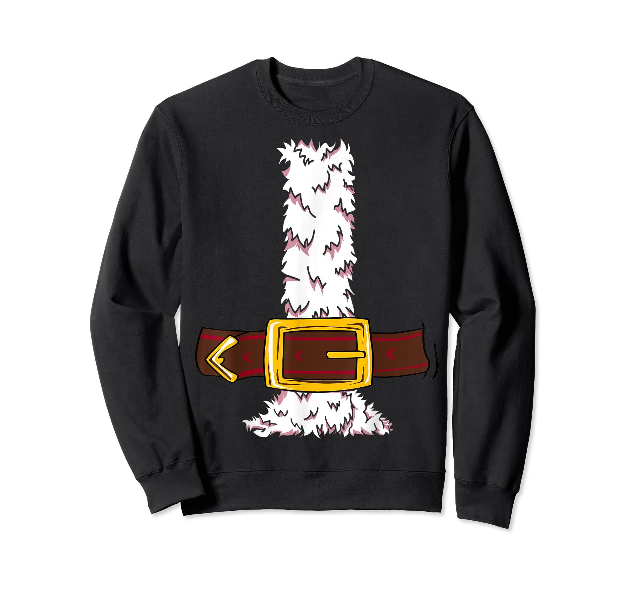 Funny Christmas gift for boys girls men women Santa costume T-Shirt-Sweatshirt-Black