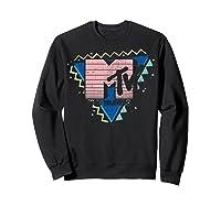 Pink Stripes Logo 90's Retro Design Graphic Shirts Sweatshirt Black
