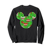 Disney Mickey Christmas Ornats T Shirt Sweatshirt Black