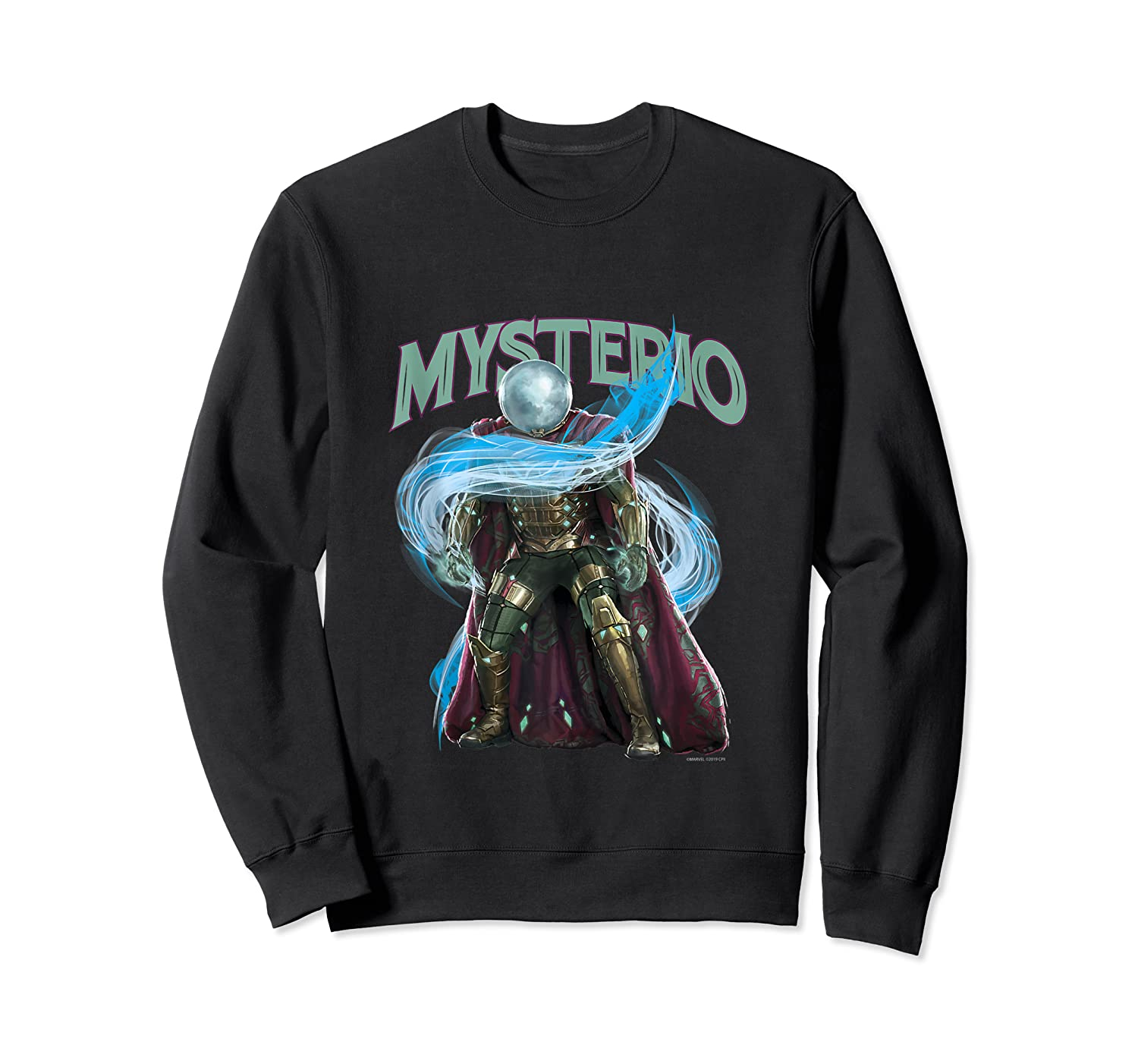 Spider Man Far From Home Mysterio Stance Shirts Crewneck Sweater