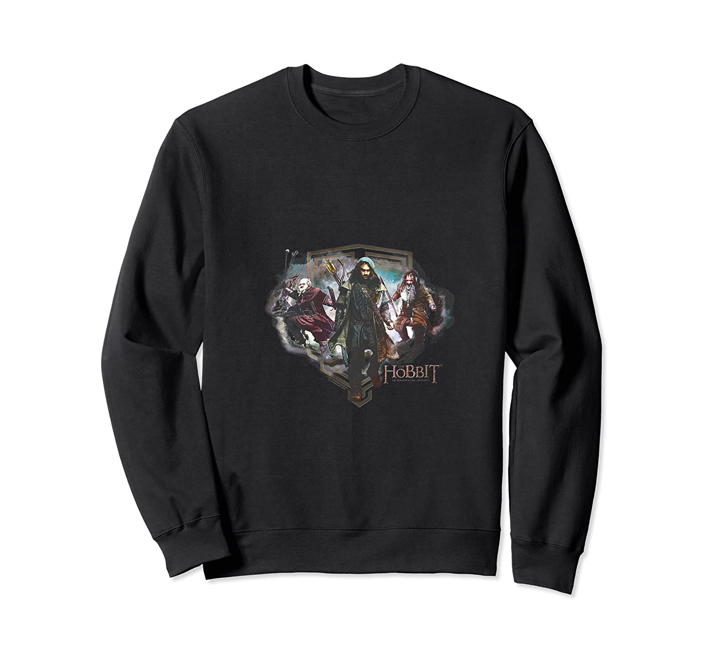 Hobbit Three Dwarves Black Shirts Crewneck Sweater