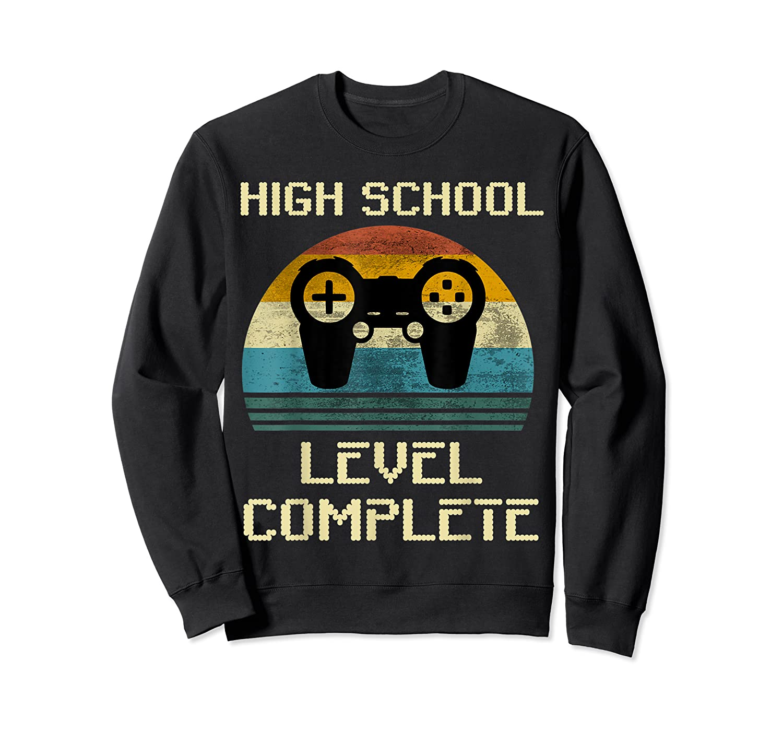 2019 High School Graduation Shirt Gamer Graduation Gifts-min Crewneck Sweater