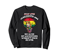 Ancestors Black African American Flag T Shirt Sweatshirt Black