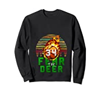 R The Deer Gift For Milwaukee Basketball Bucks Fans Fire Shirts Sweatshirt Black