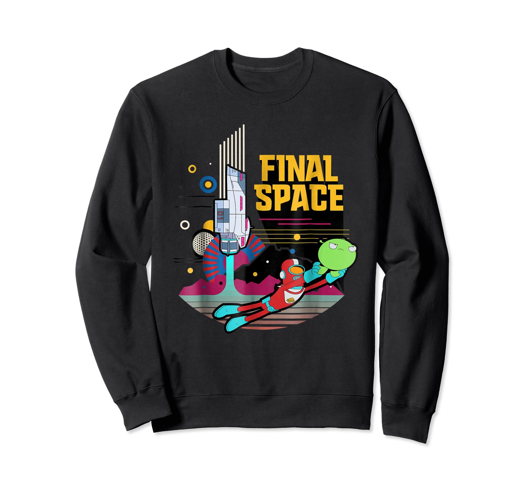 Final Space Retro Style T-shirt-Sweatshirt-Black