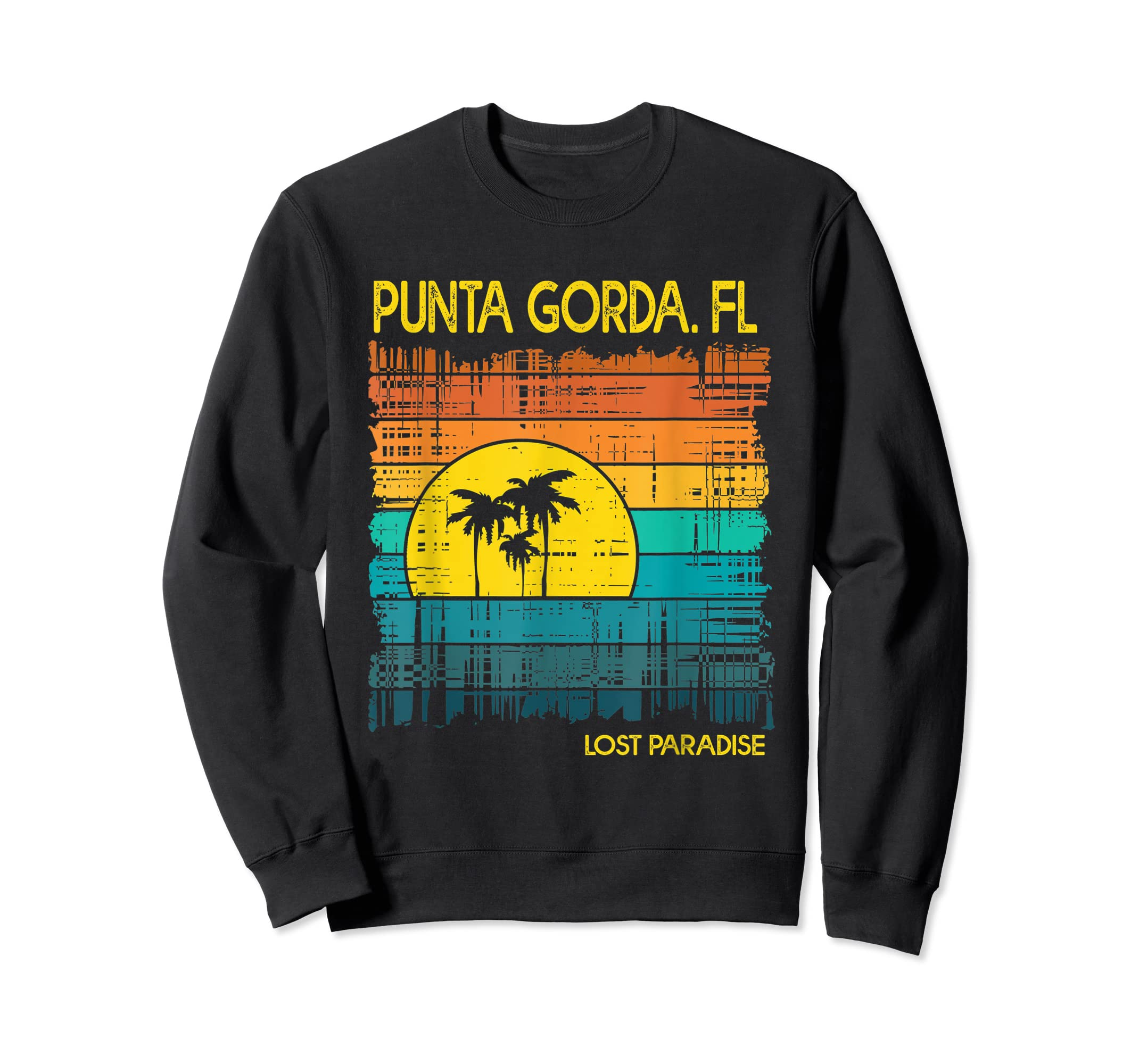 Punta Gorda Beach Florida Shirt Sunset-Sweatshirt-Black