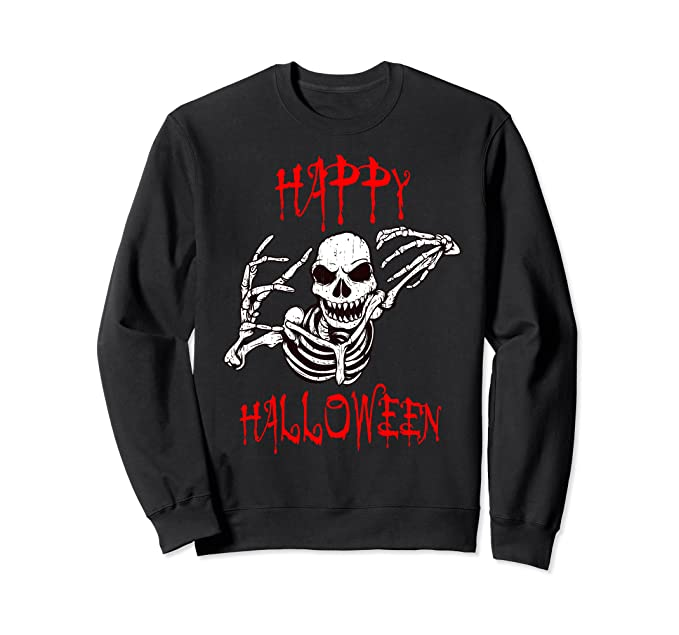 Happy Halloween Skeleton Sweatshirt