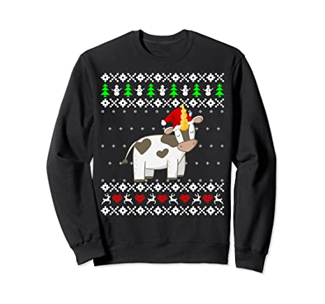Amazoncom Cute Baby Cow Ugly Christmas Sweater Pullover I Men