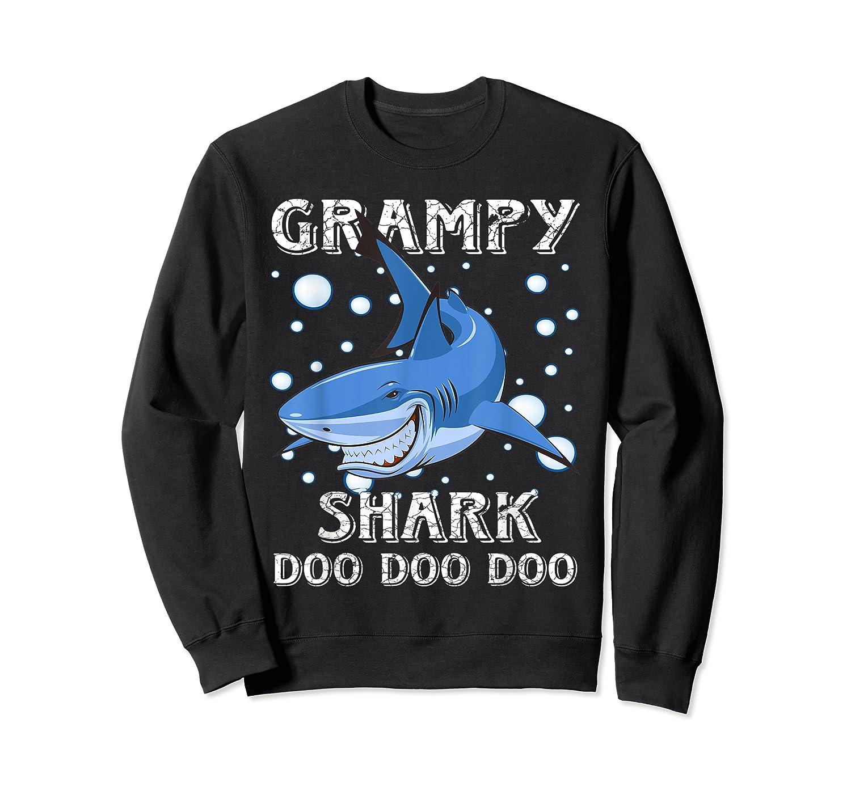 Grampy Shark Shirt Fathers Day Gift T-shirt Crewneck Sweater