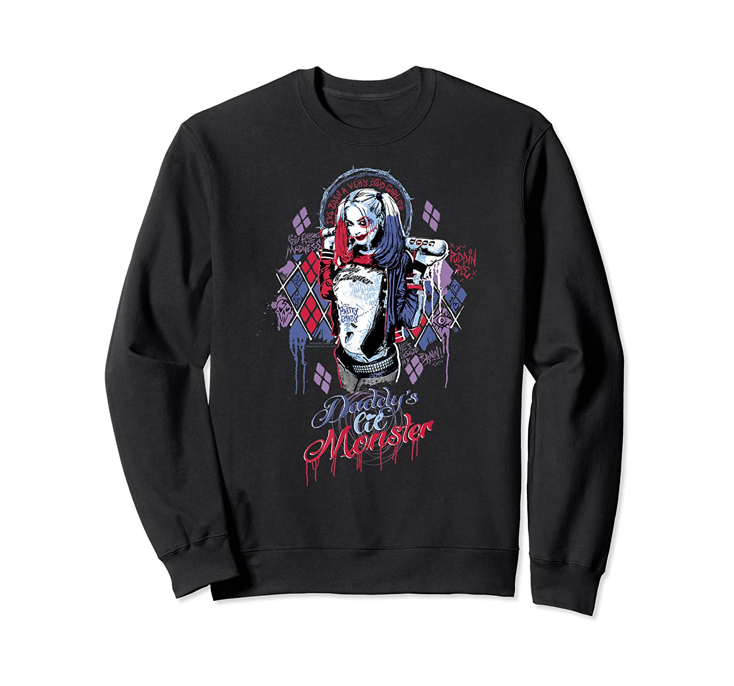 Suicide Squad Harley Quinn Bad Girl Shirts Crewneck Sweater