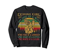 Gemini Girl The Soul Of A Witch Mouth Of A Sailor Shirts Sweatshirt Black