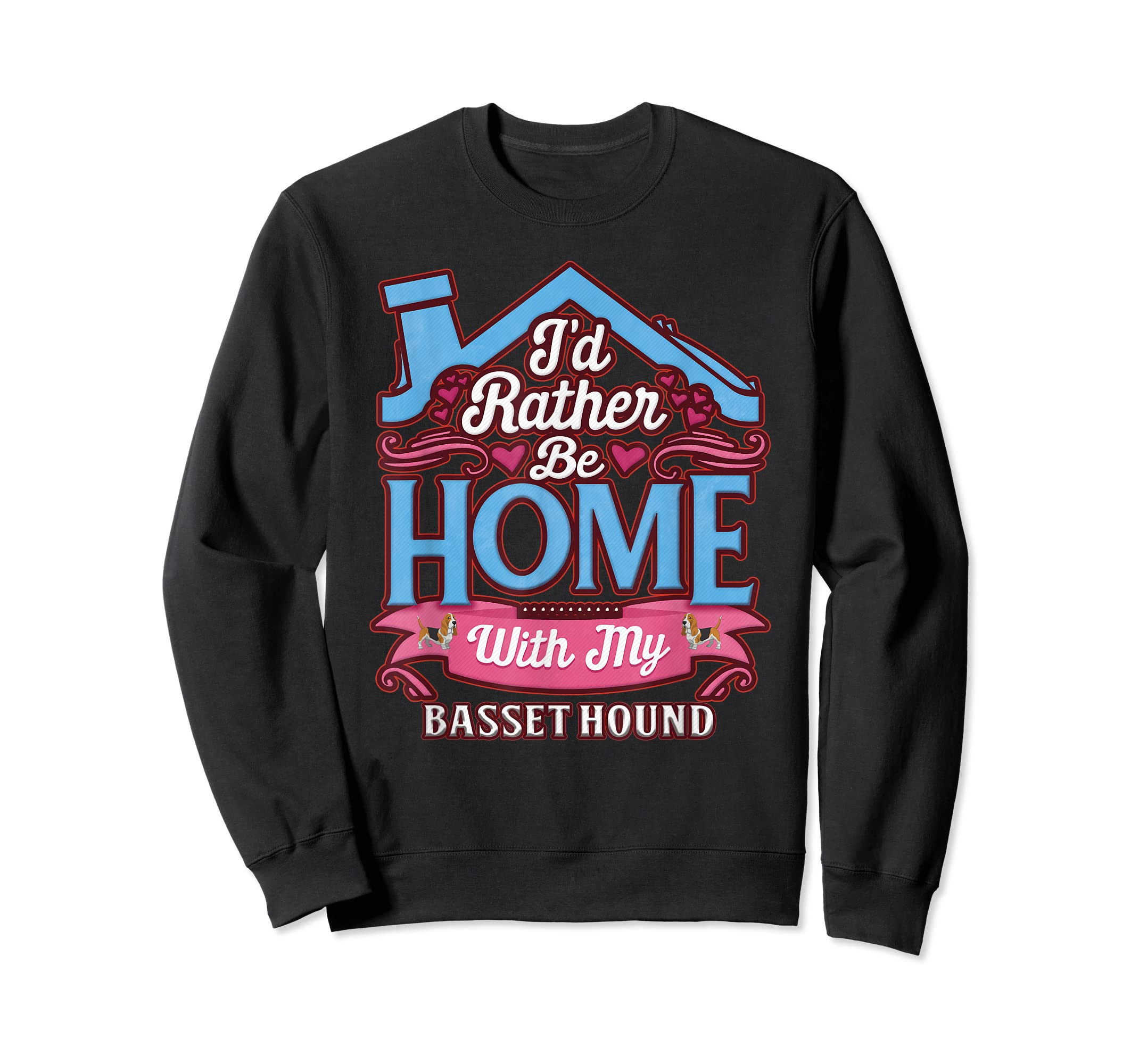 Basset Hound Home Dog T Shirt-Sweatshirt-Black
