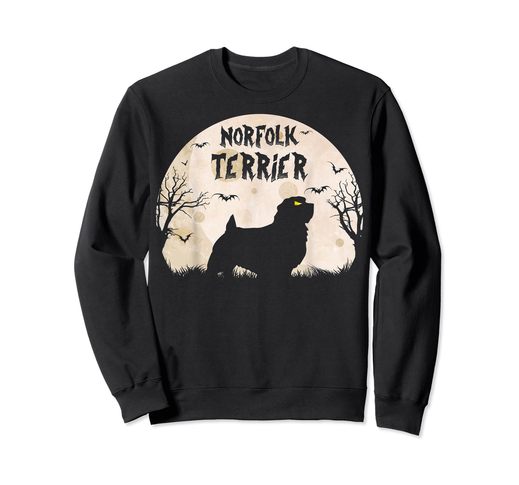 Halloween Horror Norfolk Terrier T-Shirt-Sweatshirt-Black