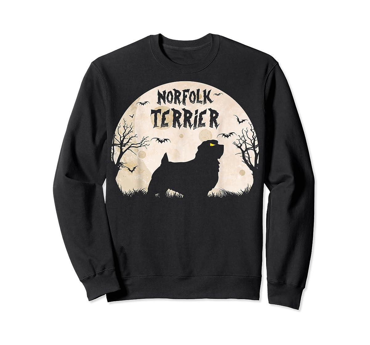 Halloween Horror Norfolk Terrier T-Shirt-Sweatshirt-Black