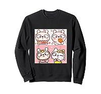 Super Cute Silly Rabbit Love Story Unisex Humor T Shirt Sweatshirt Black