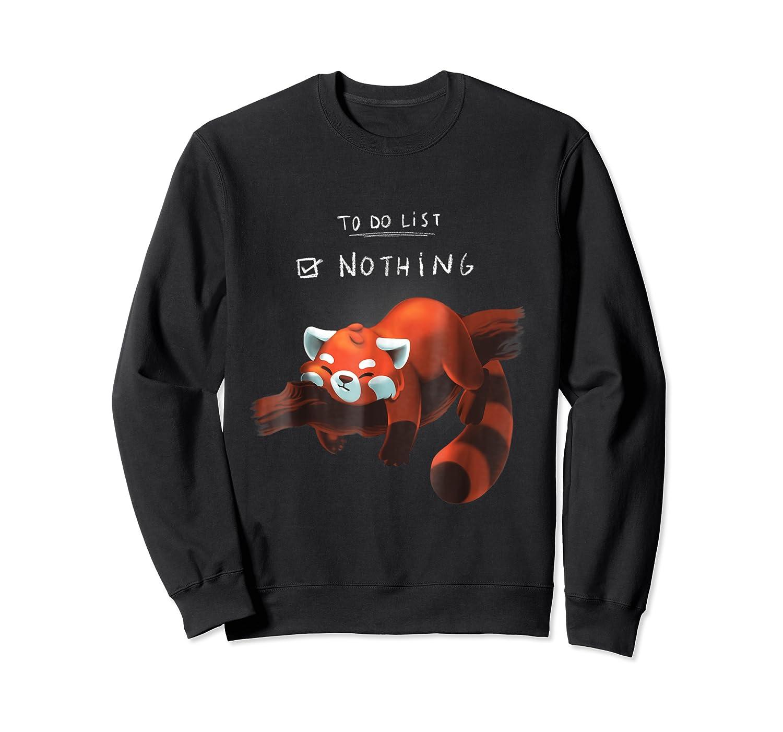 Red Panda Cute Lazy Animal To Do List Shirts Crewneck Sweater