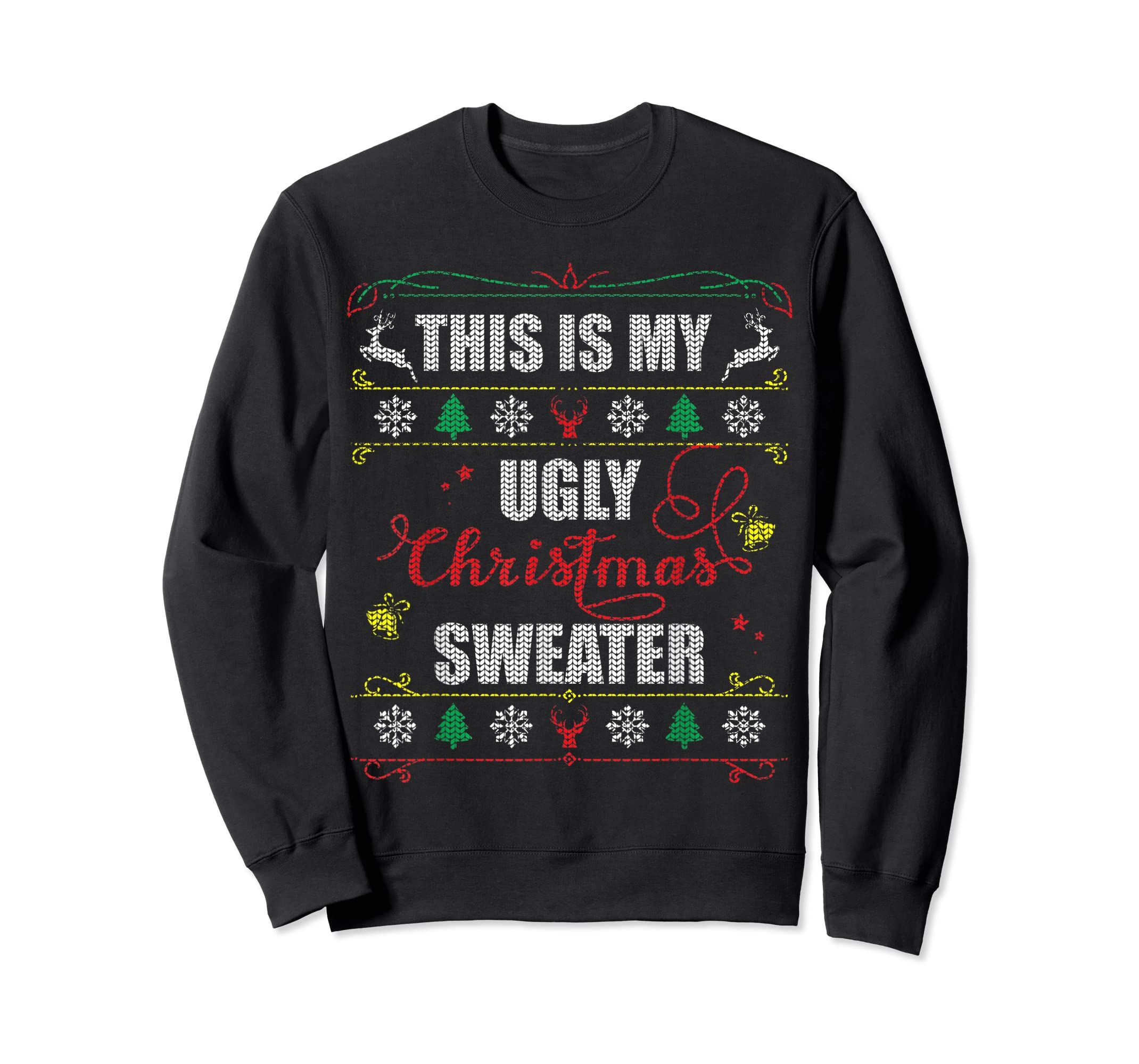 This Is My Ugly Christmas T-Shirt-Sweatshirt-Black