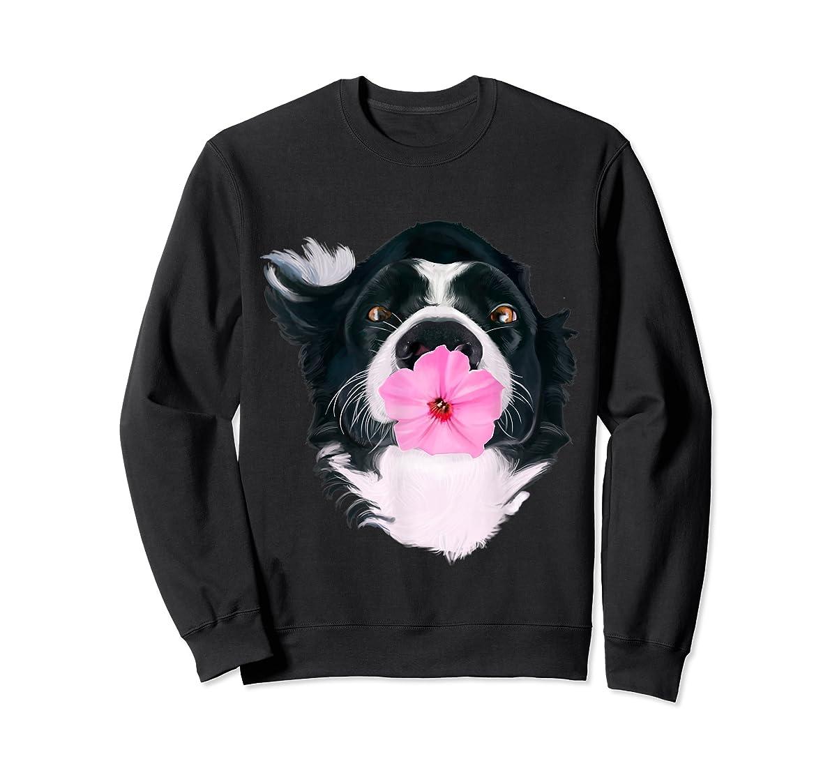 Border Collie Sweet Dog T-Shirt Dogs Tee Shirt Gifts-Sweatshirt-Black