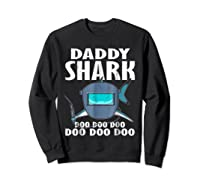 Welder Daddy Shark Funny Family Shark Christmas Gift Shirts Sweatshirt Black