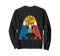 Cute Twin Bibi Bear Two Cubs Little Bears Shirts Sweatshirt Black