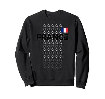 big sale b873d df33a Amazon.com: France Soccer Team Sweatshirt French Football ...
