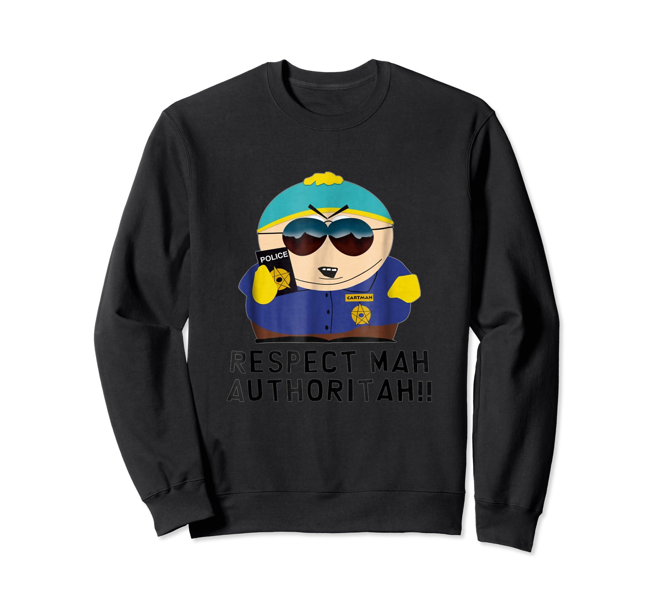 Cartman RESPECT MAH AUTHORITAH shirt-Sweatshirt-Black
