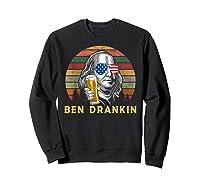 Ben Drankin 4th July Independence Day Party Shirts Sweatshirt Black