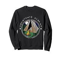 Adventure Seeker T Shirt Camping Outdoor Travel Sweatshirt Black