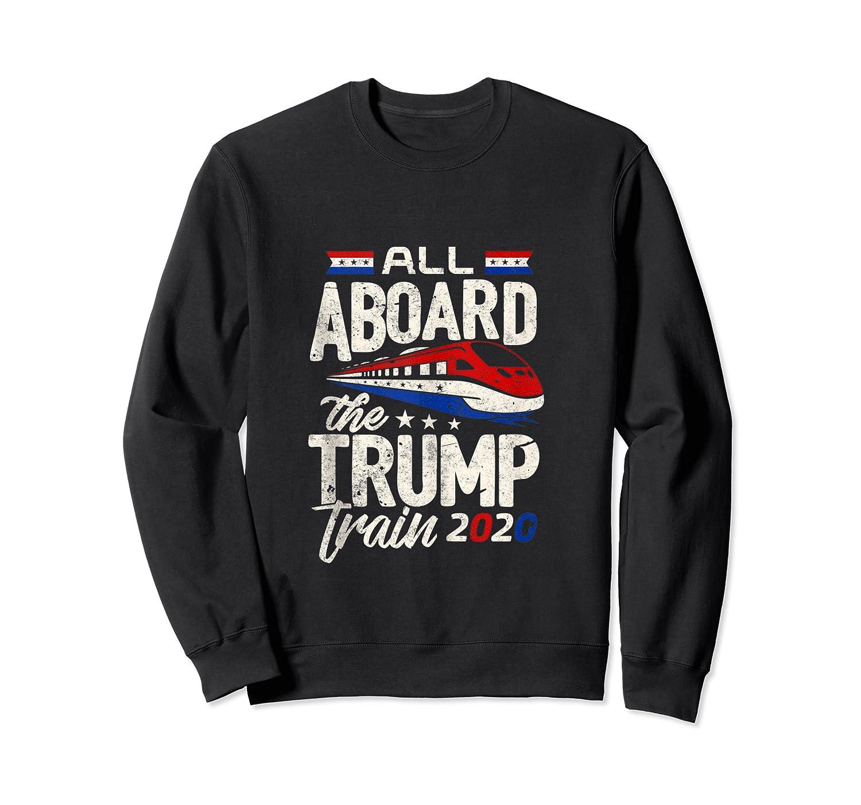 Trump Supporter Shirt All Aboard The Trump Train 2020 Gift Tank Top Crewneck Sweater