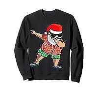 Dabbing Santa Christmas In July Hawaiian Shirt Gift Sweatshirt Black