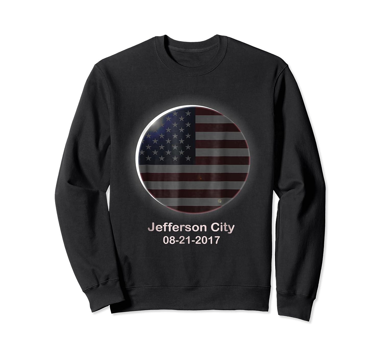 Solar Eclipse Shirt Jefferson City Mo American Flag Crewneck Sweater