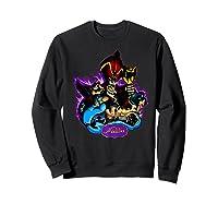 Disney Aladdin Main Cast Collage Portrait Logo Premium T-shirt Sweatshirt Black