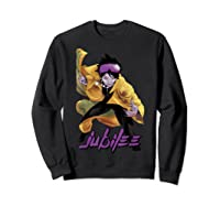 X Jubilee Modernized Classic Look Graphic Shirts Sweatshirt Black
