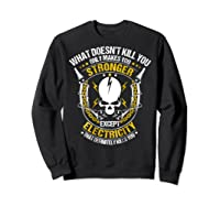 Electrician Funny T-shirt Electricity Sparky Humor Sweatshirt Black