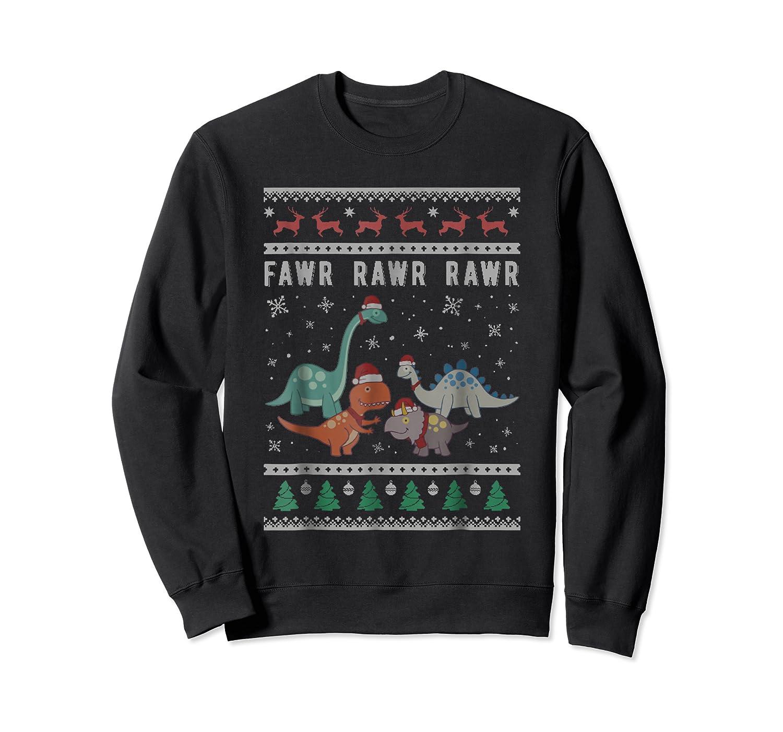 Dino Ugly Christmas Sweater Xmas Dinosaur Shirts Crewneck Sweater