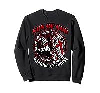 Knights Templar Tshirt Son Of God Warrior Of Christ Sweatshirt Black