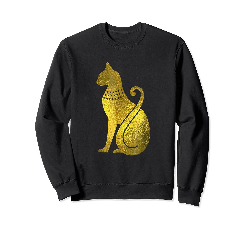 Ancient Egypt God Cat Archaeology Shirts Crewneck Sweater