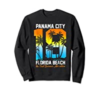 Pa City Beach 2018 Florida T Shirt Beach Lovers Gift Sweatshirt Black