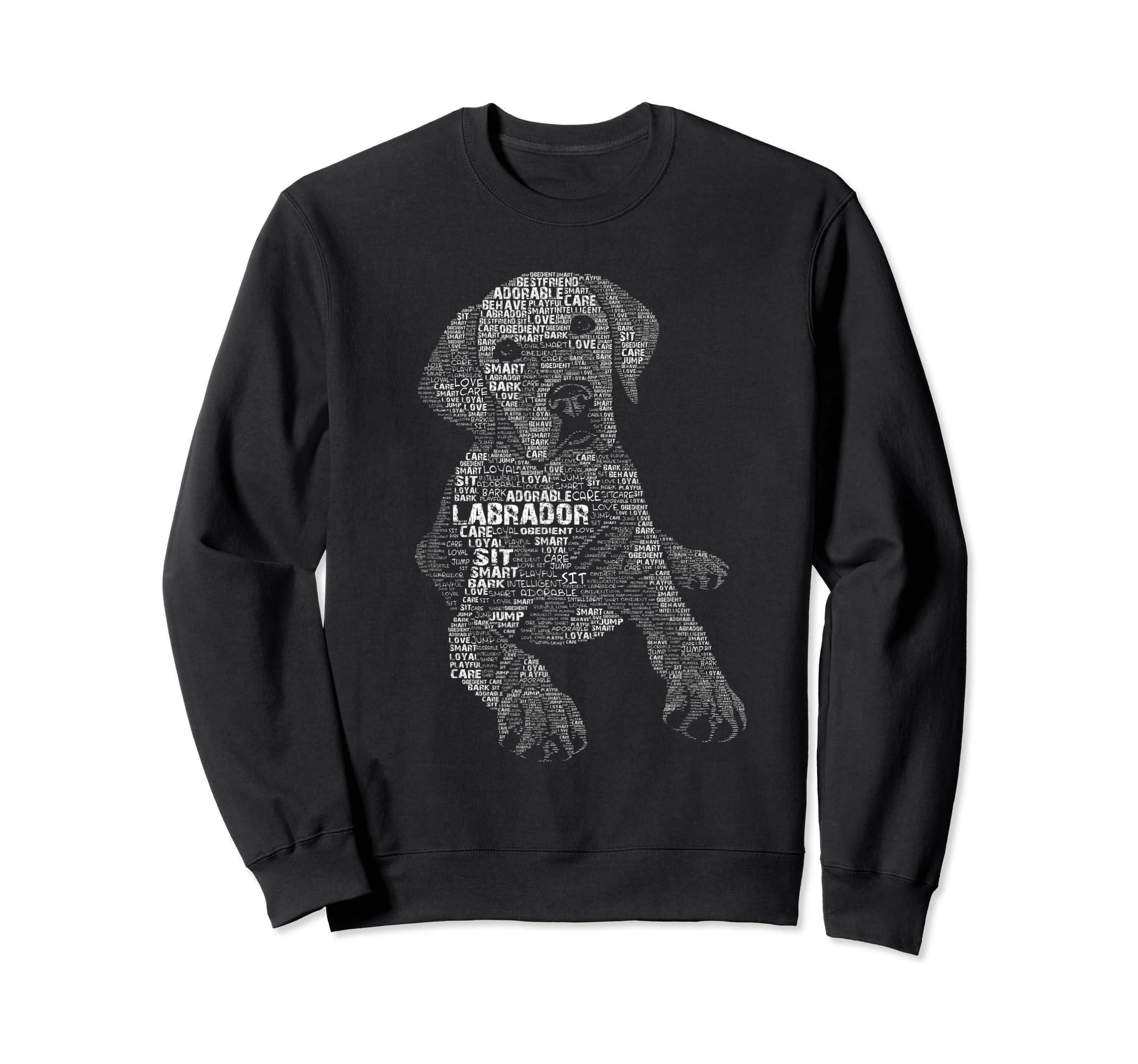 Yellow Chocolate Black Labrador Retriever - Caligram T Shirt-Sweatshirt-Black