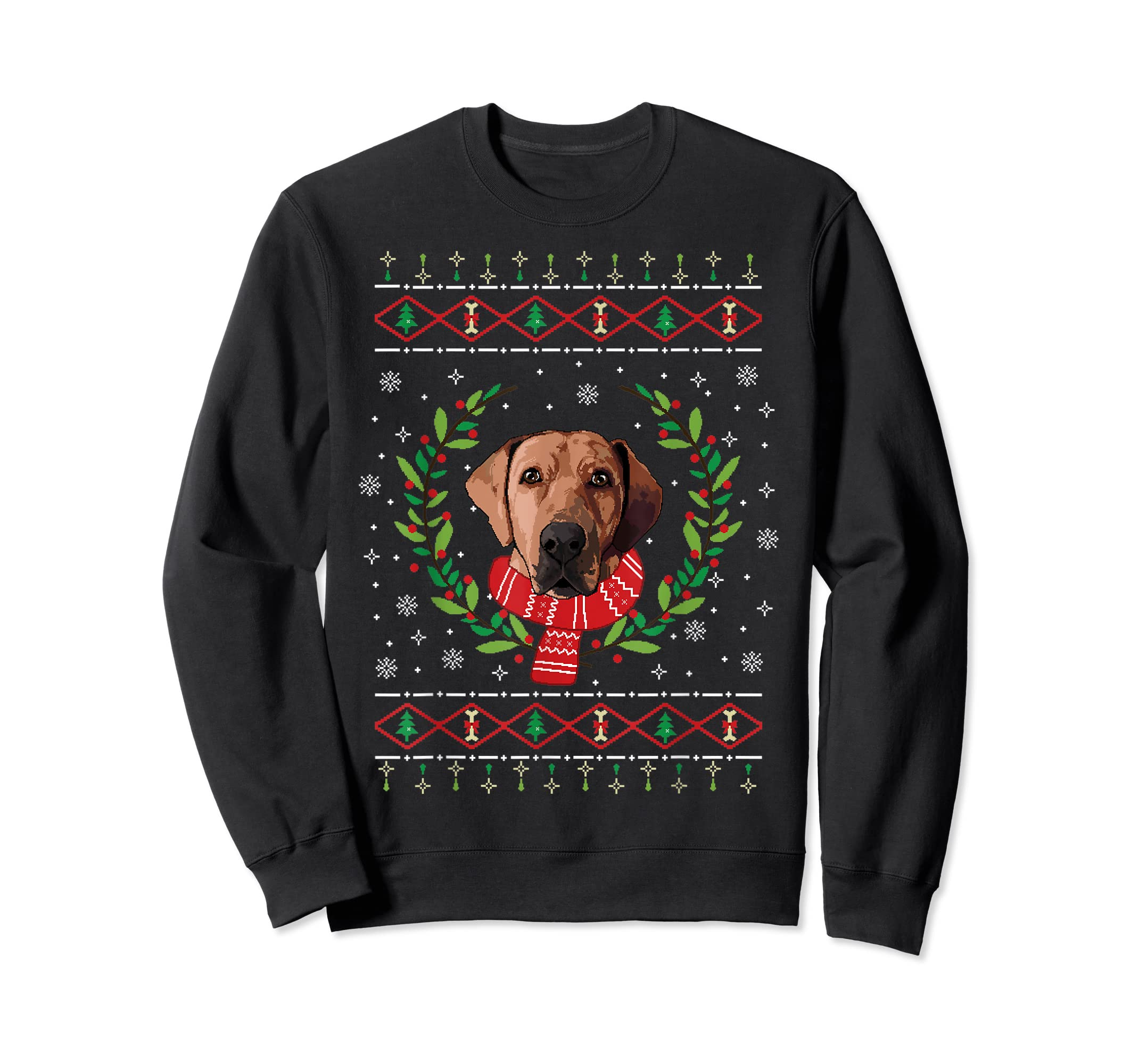 Broholmer Ugly Christmas Jumper T-Shirt Gift T-Shirt-Sweatshirt-Black