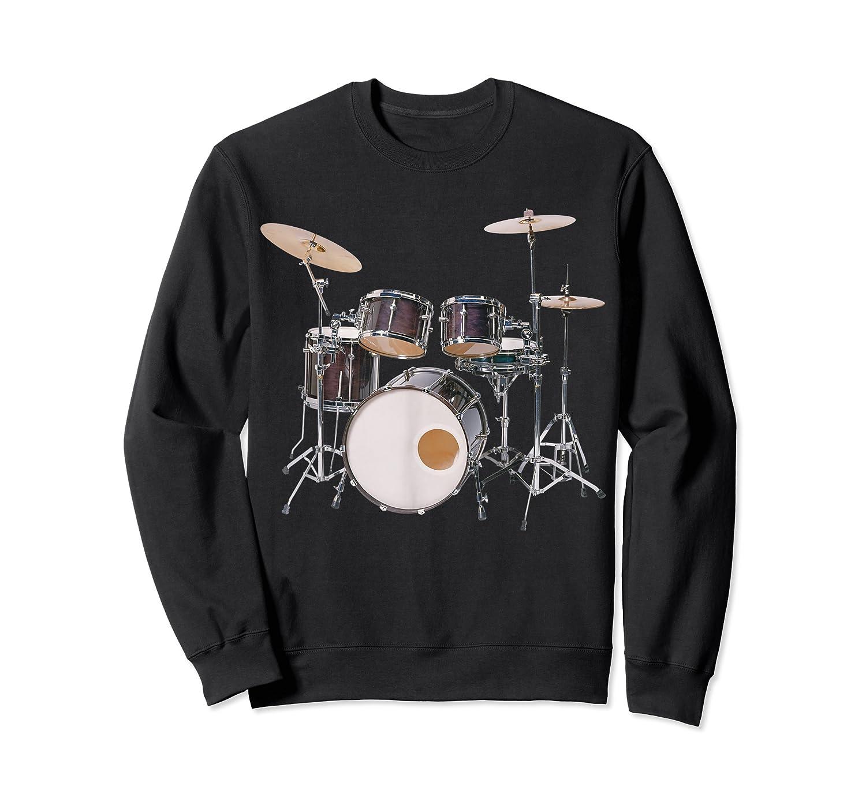 Awesome Drum Set Rock Music Band Shirts Crewneck Sweater