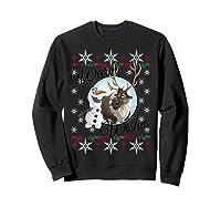 Frozen Olaf Sven Warm Wishes Ugly Sweater Shirts Sweatshirt Black