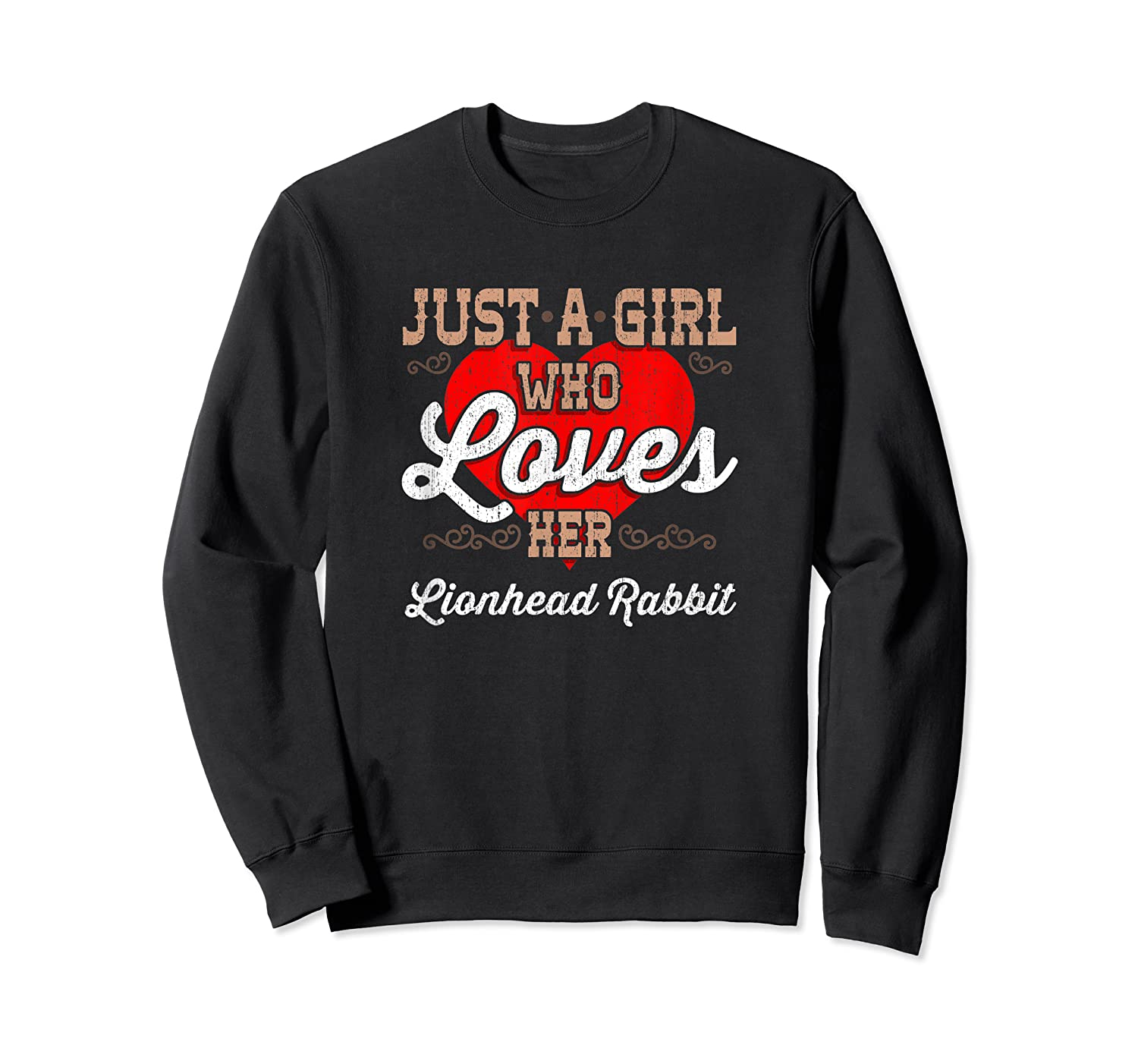 Just A Girl Who Loves Her Lionhead Rabbit Shirt For  Crewneck Sweater