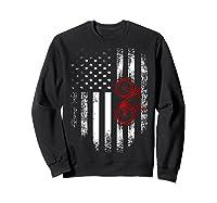 Vintage American Usa Flag Bicycle T-shirt Bicyclist Gift Sweatshirt Black