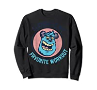 Pixar Monsters University Sulley Face Shirts Sweatshirt Black