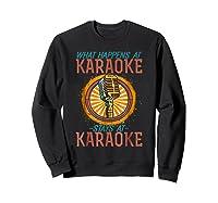 Karaoke Music Gifts Sing Music Bar Singer Vegas Style Mic Shirts Sweatshirt Black